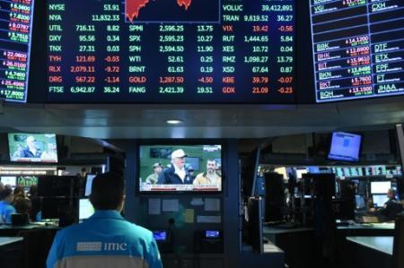 La Bourse de New York le 10 janvier 2019 (Photo Bryan R. Smith. AFP)