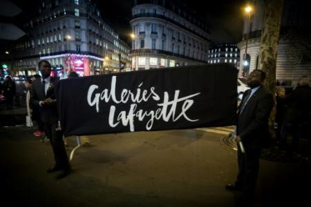 Les galeries Lafayette le 7 novembre 2018 (Photo Lionel BONAVENTURE. AFP)