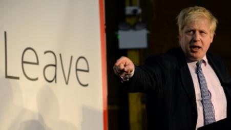 Boris Johnson le 15 avril 2016 à Manchester, dans le nord de l'Angleterre (Photo OLI SCARFF                          . AFP)