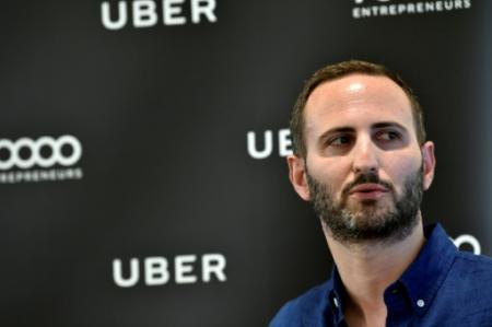 Steve Salom, directeur général d'Uber France, le 19 juin 2017 à Paris. (Photo ALAIN JOCARD. AFP)