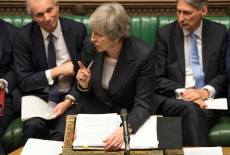 La Première ministre britannique Theresa May au Parlement britannique le 5 décembre 2018 à Londres (Photo Mark DUFFY. UK PARLIAMENT)
