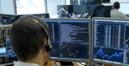 La Bourse de Paris évolue dans le rouge, affectée par le décrochage de la livre turque (Photo ERIC PIERMONT. AFP)