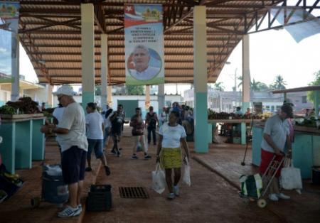 Un marché à La Havane, Cuba, le 13 septembre 2018 (Photo YAMIL LAGE. AFP)