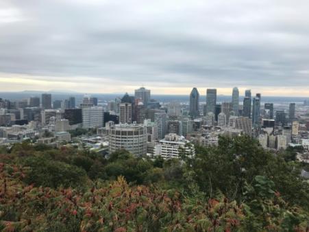 Vue de Montréal dans la province du Québec, le 10 octobre 2010 (Photo Daniel SLIM. AFP)