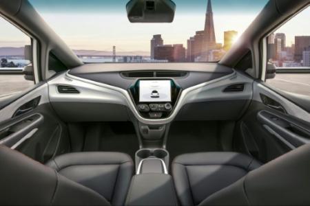 Une image de la Cruise AV de GM, une voiture destinée à opérer toute seule, sans chauffeur, sans volant et sans pédales (Photo Handout. General Motors)